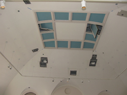 Third floor ceiling.