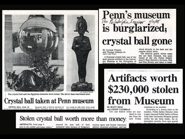 The theft of the Museum's objects was a sensation story in local news.