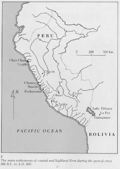 Map of Pachacamac