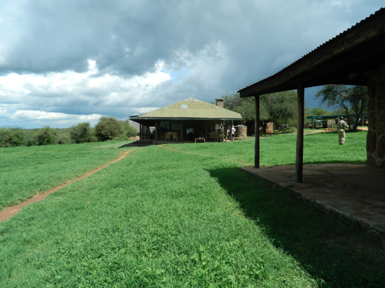 Shot of a few of the main buildings at the Mpala compound