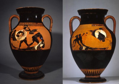 Attic Black-Figure Amphora Sides A and B