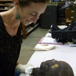 Project Conservator Molly Gleeson comes face to face with one of her prospective 'clients'