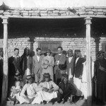 Supervisory staff in front of the improved Expedition house at end of season 1928-29.
