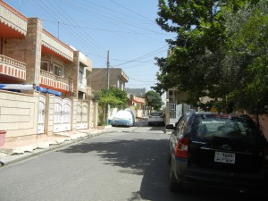 Our street in Erbil