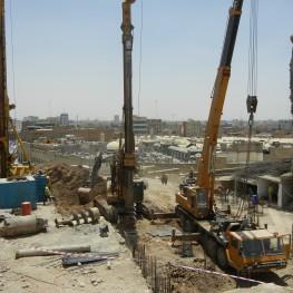 Erbil citadel gate under construction