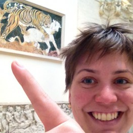 Me with the tiger panel in the Capitoline Museum
