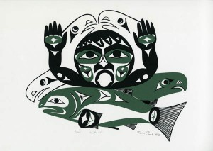 Tim Paul Silkscreen print on whitewove paper, 1993 Collected by Ruben Reina, Museum Expedition, 1994 94-15-10