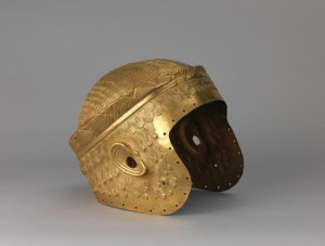 Electrotype copy of the helmet of Meskalamdug. The gold original is in the Iraq National Museum