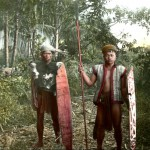 Tegang, a Dayak from Borneo was the guide of William Henry Furness III, Alfred C. Harrison,