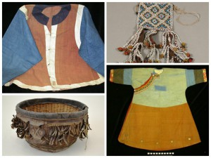 Clockwise from top left: 2003-39-5, Man's Jacket, China / 2003-31-27A, Sheath Ornament (Bagobo), Philippine Islands / 2003-43-46, Blouse, Siberia / 2010-10-36, Basket, Senegal. A selection of more than 5,000 objects was transferred from the Philadelphia Commercial Museum (also known as the Philadelphia Civic Center Museum) in 2003. Of these, many had travelled to World's Fairs, such as the more than 334 objects from the Philippines that were exhibited at the 1904 Louisiana Purchase Exposition in St. Louis and the 139 objects from New Caledonia and 562 African Section objects that went to the 1900 Paris Exposition.
