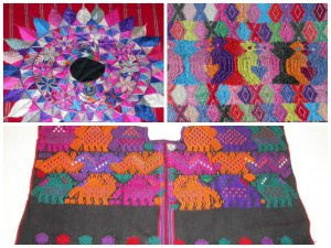 Clockwise from top left: 2004-21-9 (detail) / 2005-19-13 (detail) / 2006-18-2, Huipils, Guatemala.  The Penn Museum's Guatemalan textile collection, one of the finest in the country, has been further enhanced by several gifts from Theodore T. Newbold and Helen Cunningham, over the course of several years. Many of these textiles were collected in the late 1980s and through the 1990s.