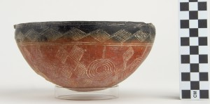 Red polished III black-topped bowl.  http://www.penn.museum/collections/object/170214