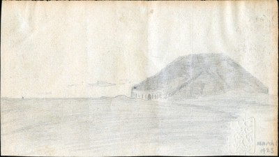 Drawing of Ur Ziggurat dated 1 March 1925.