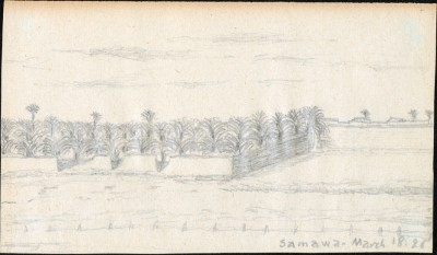 Drawing of Samawa, Iraq, dated 18 March 1925
