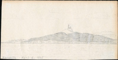 Drawing dated 6 April, 1925 of Marseille, France.