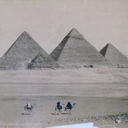 General view of the pyramids.