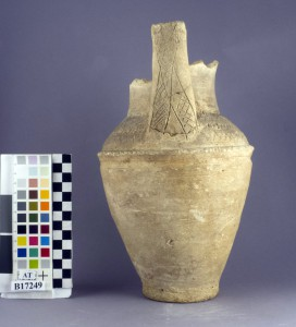 U.10183 (B17249), upright-handled jar found in PG778 at Ur