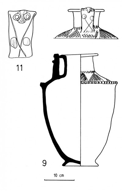 Example of upright-handled jar from Kish (after Moon 1982: 43 #9=IM2358 and #11=1925.168)