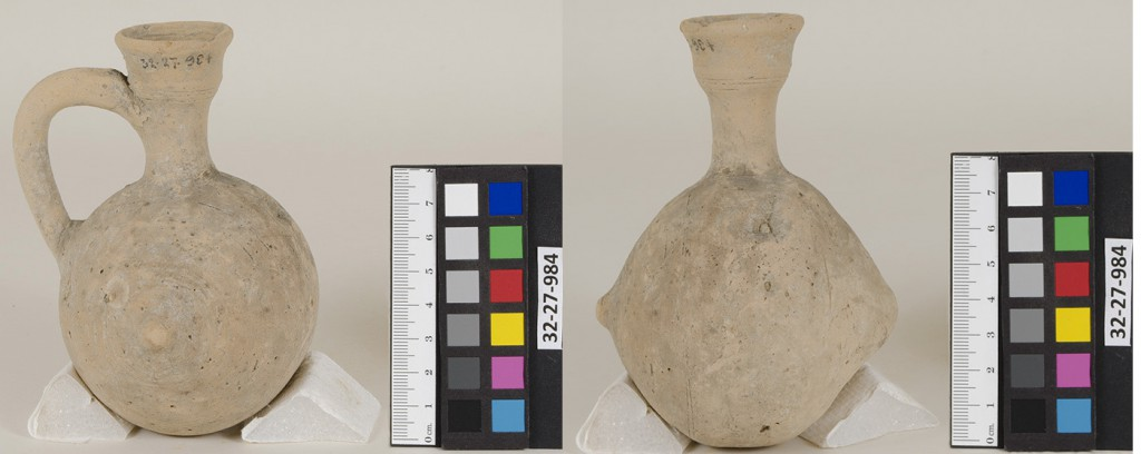 Jug 32-27-984, which has unknown contents inside. Photographed by Stephanie Carrato.