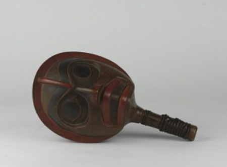 Rattle made of wood. Collection Object Number: NA4969