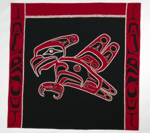 Davidson designed this cashmere button blanket in the Penn Museum collection in 1995 - you can see it on display in the Native American Voices Gallery.