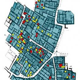 Burials in Domestic Area AH. Those in red are listed in UE 7.