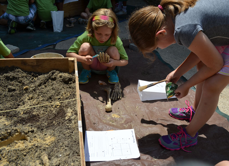 Summer camp is in session! And we'll also be documenting what young archaeologists and anthropologists in the making do in a day's work.