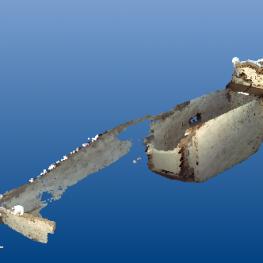 A LiDAR scan of Senebkay's tomb
