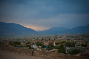 View of the city of Soran at dusk
