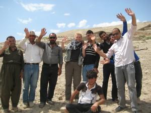 Celebrating the last day of excavation