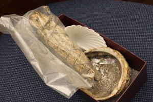 A box of smudging materials is available for use by Museum visitors. Photo by Stephanie Mach.