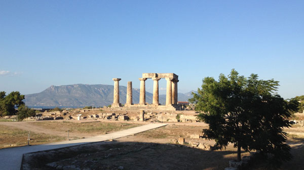 The Temple of Apollo at Corinth.  This is the view I see each day as I walk from the excavation house to the Museum.