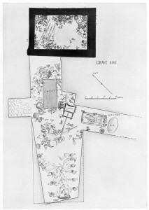 Plan drawing of PG800 death pit and chamber PG800B (Woolley 1934, Ur Excavations vol. 2)