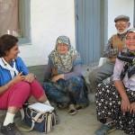 Ayşe interviewing at Hamidiye village