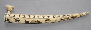 Eskimo (Inuit) ivory pipe. Photo courtesy of the Penn Museum.