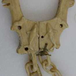 Figure 1: Alaskan Harpoon Rest from the Sledge Island Van Valin Collection. Photo with permission from the University of Pennsylvania Museum