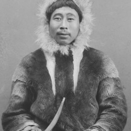 """""""Portrait of Su-Ku-Uk in Native Dress and Holding Pipe MAR 1894."""" William Dinwiddle, Glass Negatives of Indians, collected by the Bureau of American Ethnology. BAE GN 03099A 06510000, National Anthropological Archives, Smithsonian Institution, Washington, DC."""
