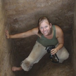 Dr. Megan Kassabaum, Director of the Smith Creek Archaeological Project.
