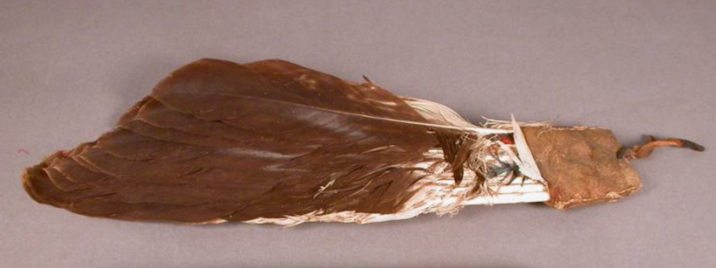 Peyote eagle feather fan collected from Wi·tapano'xwe. Photo courtesy of the Penn Museum. Museum Object Number 70-9-480.
