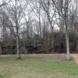 One of three earthen mounds at Smith Creek. Photo by Megan Kassabaum.