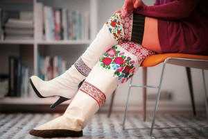 High-heeled and traditional versions of kamiks. Photo courtesy of Mads Pihl. Photo - Angu Motzfeldt - Visit Greenland.