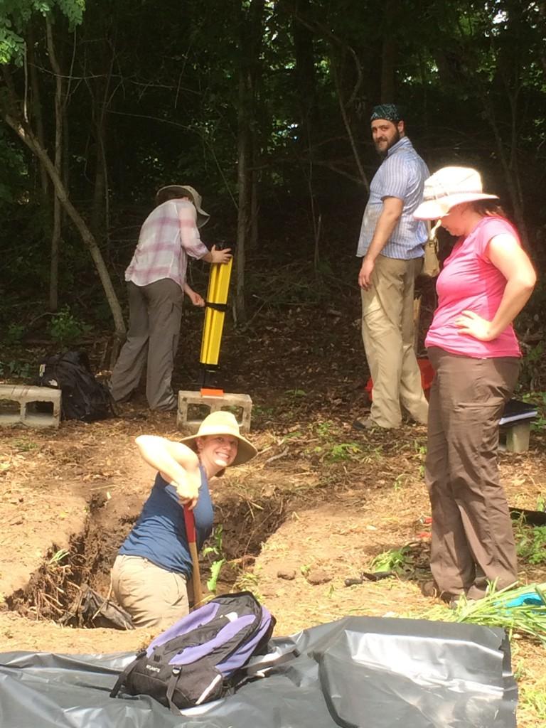 Digging at Mound C.