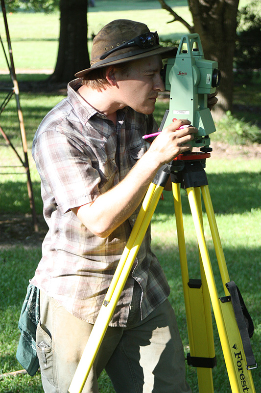 David at the total station.