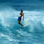 Rell Sunn surfing