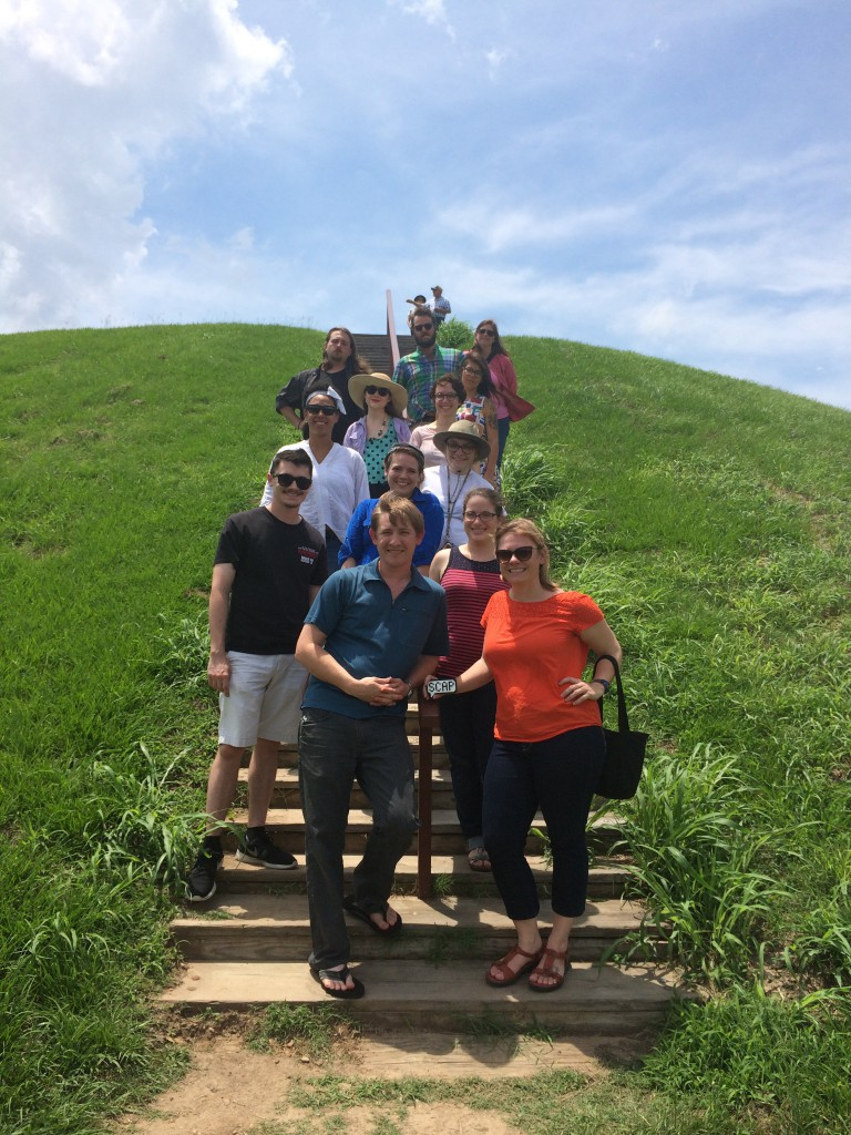 The SCAP team visits Emerald Mound. Photo taken by a friendly passer-by.