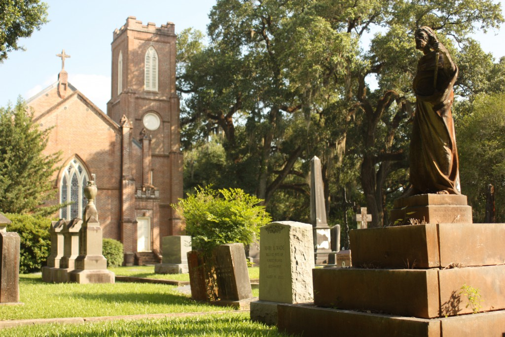 A view of the cemetery at Grace Episcopal Church.