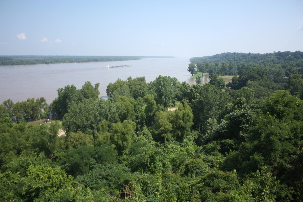 A view from Natchez of the Mississippi River.