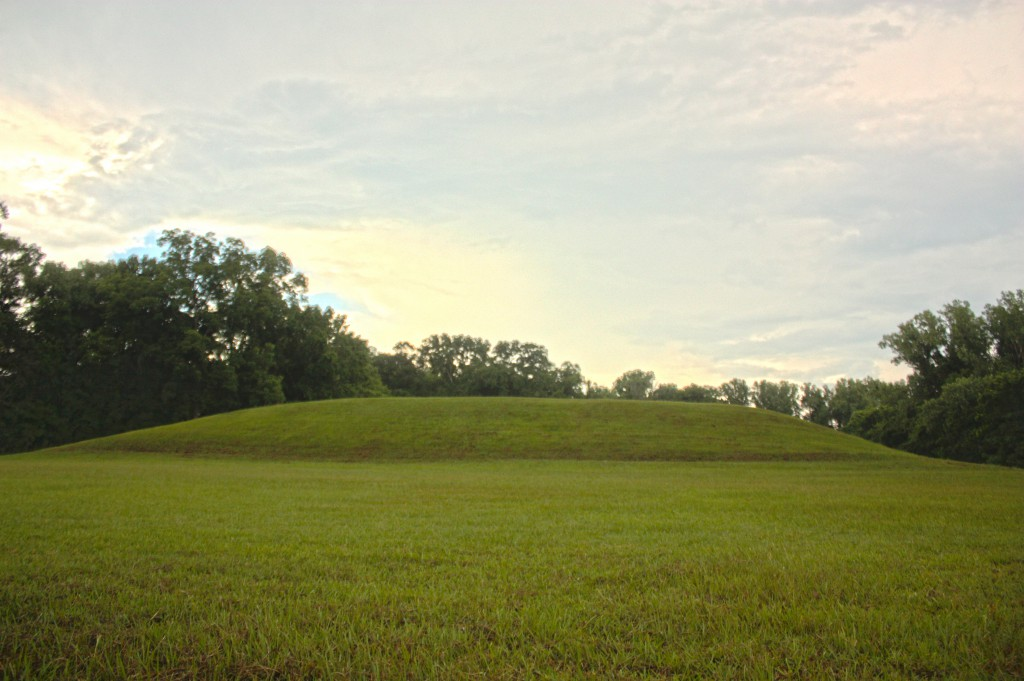 Mound B at the Grand Village of the Natchez Indians, former home of the Great Sun.
