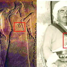 Ashur-Nasir-Pal II Palace Relief and Mustafa Barzani