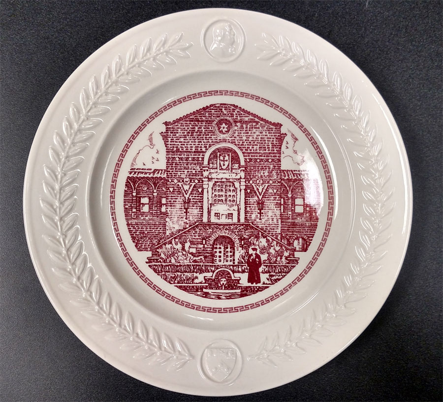 Bicentennial Wedgwood Plate, 1940: The Museum Porch by Thorton Oakley